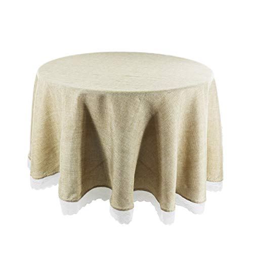 ZXM Tablecloths Table Cloths for Round Tables, Decorative Fabric Circular Table Cover for Outdoor and Indoor Use, Wrinkle and Stain Resistant, for Dining Room Party Outdoor Picnic