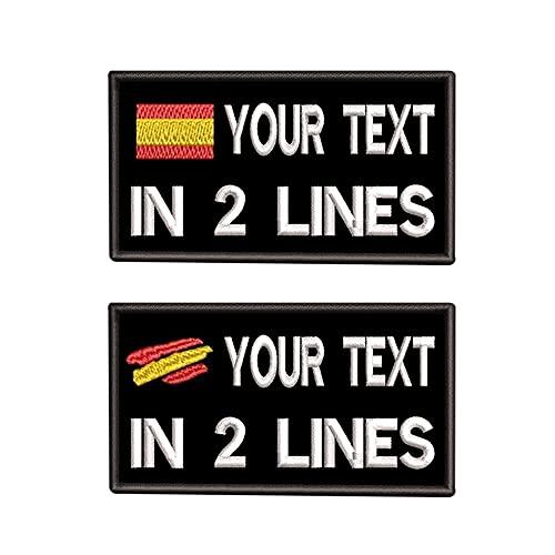 Parches de nombre tácticos personalizados 9 x 5cm Etiqueta de número militar personalizada Parche de bandera de España personalizado para múltiples bolsas de ropa Chaleco Chaquetas Camisas de trabajo