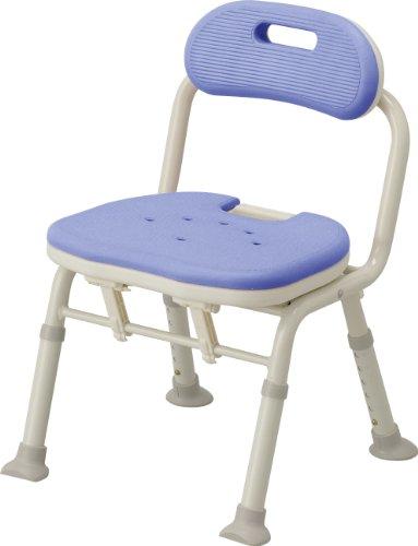 アロン化成 安寿 コンパクト折りたたみシャワーベンチ IC 背付タイプ ブルー