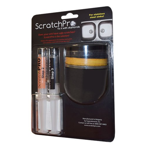 Scratch Pro Kit for Repairing and Polishing Stainless Steel Sinks