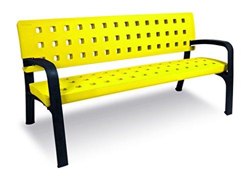 Fábregas Banc de jardin moderne en plastique écologique 170 cm jaune