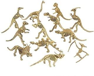 Rhode Island Novelty Assorted Dinosaur Fossil Skeleton 6-7 Inch Figures, 12-Piece