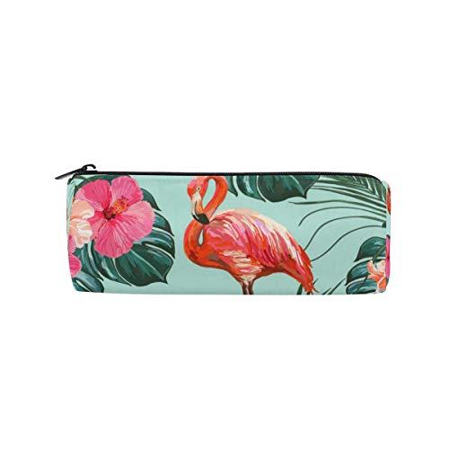 Estuche para lápices Flor tropical Animal Flamingo Estuche para lápices Bolígrafo con cremallera Bolsa Titular de la bolsa Bolsa de pincel de maquillaje para trabajo escolar Oficina ^ A6