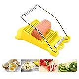 SPAM Slicer, cortador de huevos cocidos, cortador de queso blando, cortador de carne, alambres de acero inoxidable, cortes de 10 discos