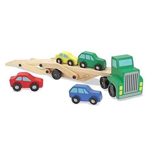 Melissa & Doug - Motorfahrzeugspielsets für Kinder in Mehrfarben, Größe Car Transporter