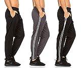 DARESAY Mens Athletic Pants with Pockets, Black...