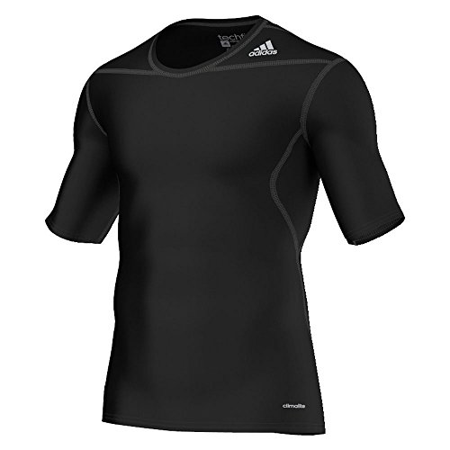 adidas Tech Fit Base - Camiseta de fitness, color negro, talla M