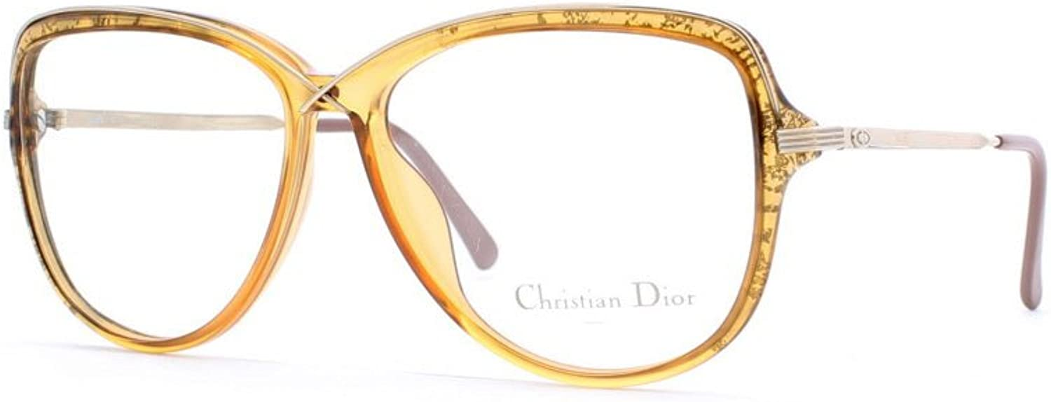 Christian Dior 2530 20 Brown and gold Authentic Women Vintage Eyeglasses Frame