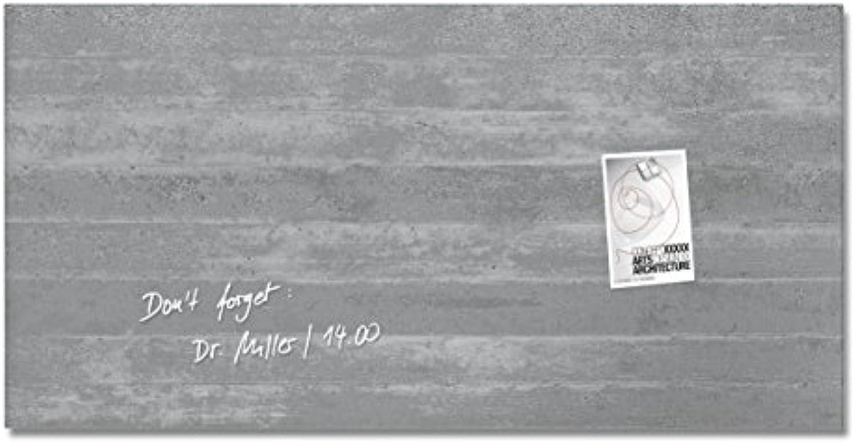 SIGEL GL148 Glas-Magnetboard 91 x 46 cm Motiv Sichtbeton   Magnettafel Artverum - weitere Designs Gren