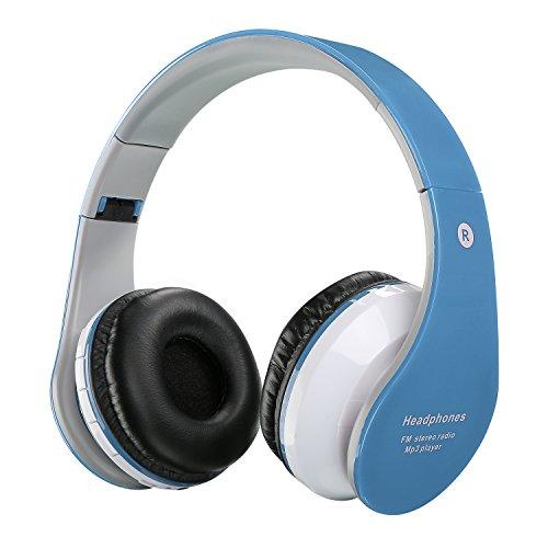 Cascos inalámbricos para niños y adultos, recargables y plegables con bluetooth manos libres y Puerto Jack 3.5mm, compatibles con cualquier aparato que tenga Bluetooth como smartphones, PC, ta