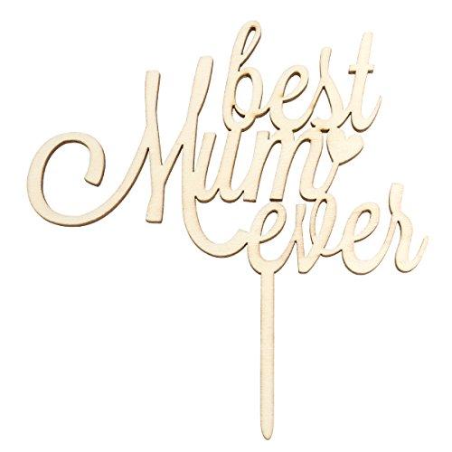 BESTOYARD Best MOM Ever Kuchen Topper, Muttertag Geburtstag Kuchen Muffin Dekoration