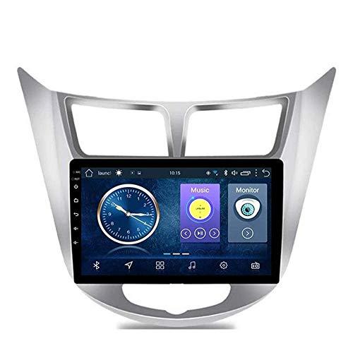Android 8.1 Navegación Radio TV GPS pantalla táctil de 9 pulgadas para Hyundai Accent/Verna 2012 – 2017, con DAB CD DVD control del volante Bluetooth Mirror Link,4 G + WiFi:2 + 32 G