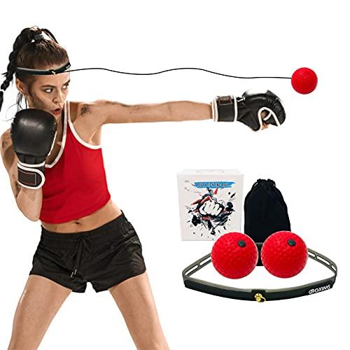 Watermelon 2 PCS Boxeo Reflex Ball 3 Tipos Bola De Boxeo Mejorar La Velocidad De Reacción Y La Coordinación De Los De La Mano Equipo De Boxeo para La Capacitación En El Hogar