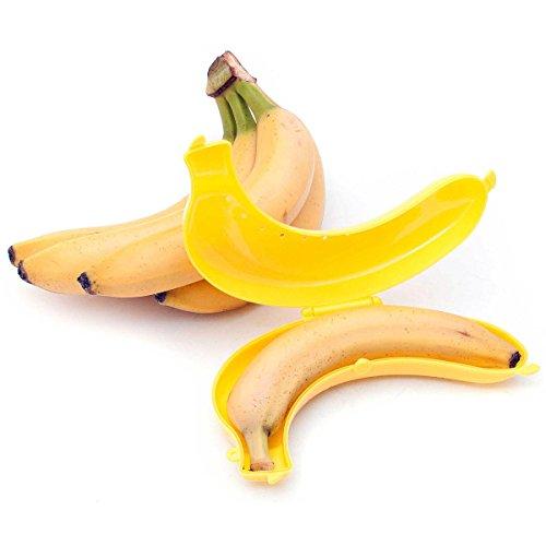 GOODS+GADGETS Bananen Box Aufbewahrungsdose Wächter Aufbewahrungsbox Dose schützt Banane vor Zerdrücken