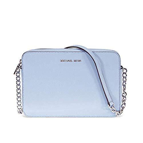 """Leather adjustable-strap with strap drop of 23"""" Zipper closure Dimensions: 9""""W x 6""""H x 2""""D"""