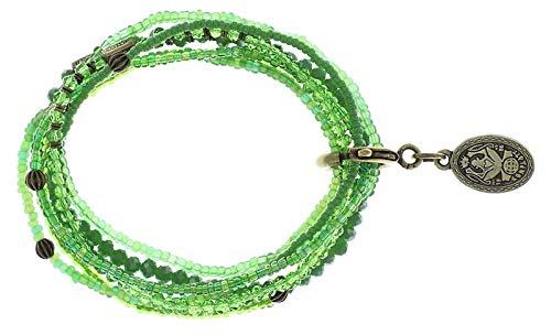 Konplott Armband Petit Glamour d´Afrique Brass Green