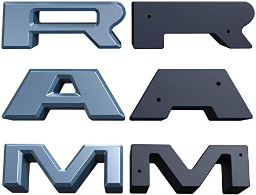 QUAKEWORLD Front Grille Grill R A M Letters R&A&M Car Replacement for Dodge RAM 1500 2013 2014 2015 2016 2017 2018