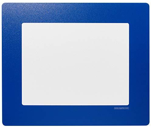 ORGATEX ventana transparente de PVC con marco adhesivo, tamaño carta, 11 pulgadas de ancho x 8.5 pulgadas de alto, 10 unidades, color azul