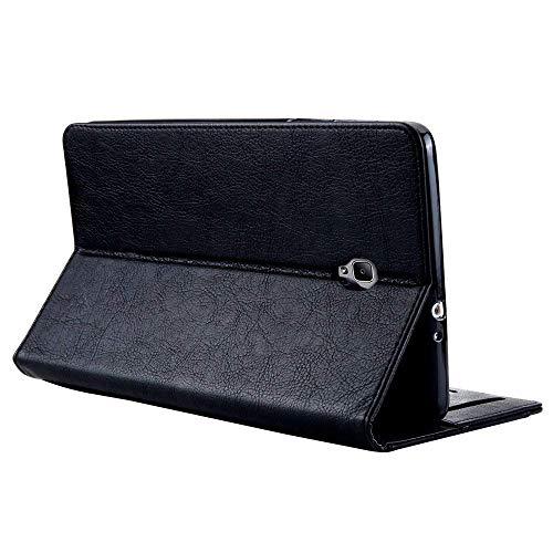 Yimiky Galaxy Tab S3 9.7-Zoll-Hülle, Book Style-haltbare Abdeckung mit Kartensteckplatz und Stifthalter, Premium-PU-Leder Smart Folio-Hülle für Samsung Tab S3 9.7 (T820 / T825)(Schwarz)