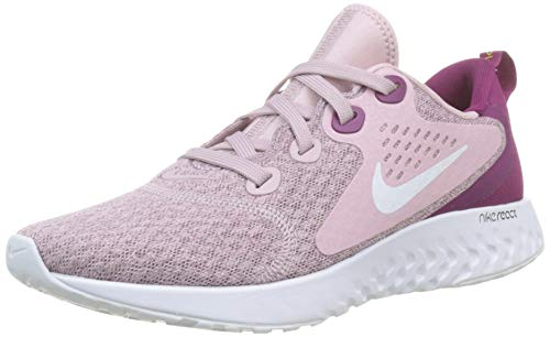 Nike Womens Legend React Running Trainers AA1626 Sneakers Shoes (UK 5.5 US 8 EU 39, Plum Chalk White Berry 500)