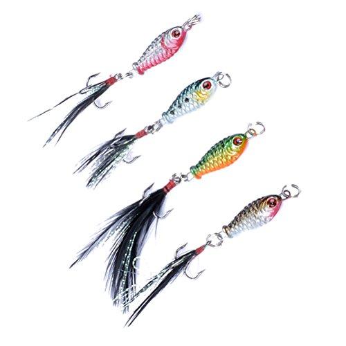 WINOMO 4 Unids Señuelos de Pesca Bass Crankbait Kit Pesca Topwater Aparejos...