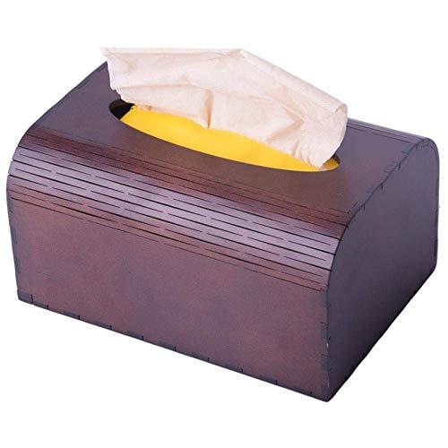 HYY-YY Caja de pañuelos para pañuelos de papel, caja de almacenamiento, creativa de madera, para dormitorio, sala de estar, baño, cocina