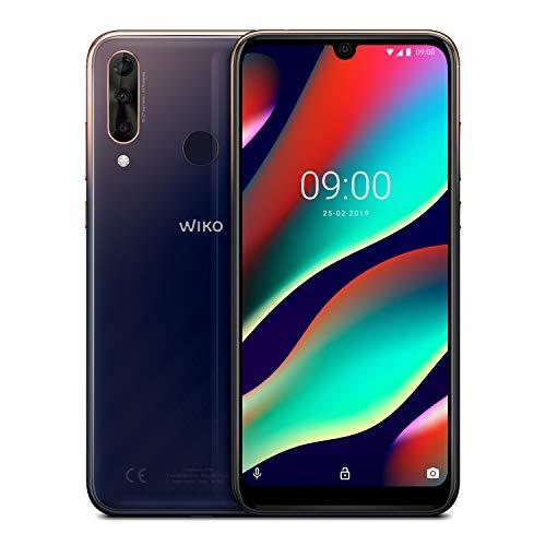 WIKO View3 Pro 128GB+6GB Smartphone ( 6,3 Zoll, Triple-Kamera, 4000 mAh Akku, Dual-SIM, Android 9.0), Anthracite Blue/Gold