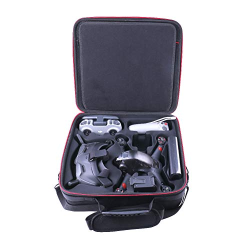 Hard Carrying Case Compatible with DJI FPV Fly More Combo,Suitable for Remote Control, Through The Remote Stick, 4 Batteries,FPV Motion Controller, Flight Glasses V2 + Battery and propeller12