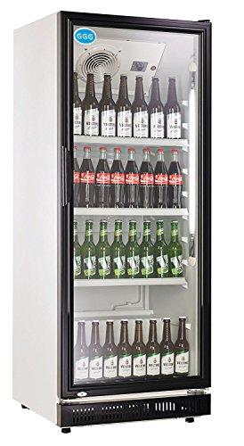 wDesigns Gastro Flaschenkühlschrank Glastür 360 Liter 620x635x1732mm schwarz