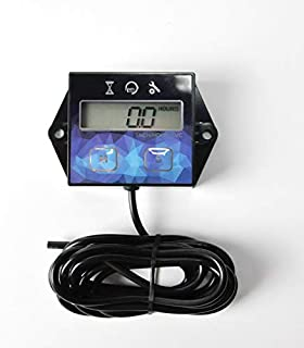Small Digital Engine Tachometer Hour Meter Gauge Track Oil Change InductiveHour Meter for Boat Lawn Mower Motorcycle Outboard Snowmobile Chainsaws