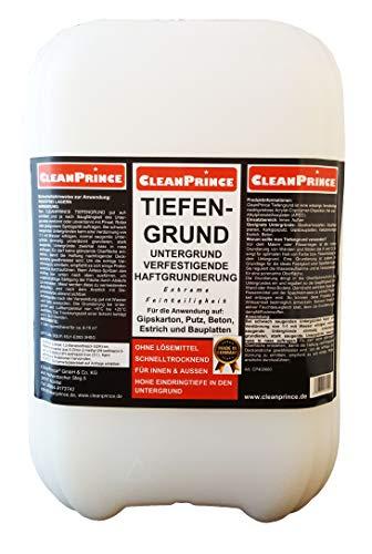 Cleanprince Tiefengrund 30 Liter gebrauchsfertig Tiefgrund Haftgrundierung auf Gipskarton, Putz, Beton, Estrich, Bauplatten