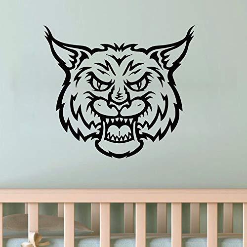 Tianpengyuanshuai tijgerkop, wilde kat, wandtattoo, decoratie voor huis, woonkamer, kinderen, kinderkamer