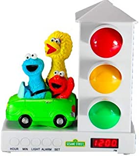 Custom Quest Sesame Street Stoplight Alarm Clock for Kids, Ok to Wake Clock with Big Bird, Cookie Monster and Elmo