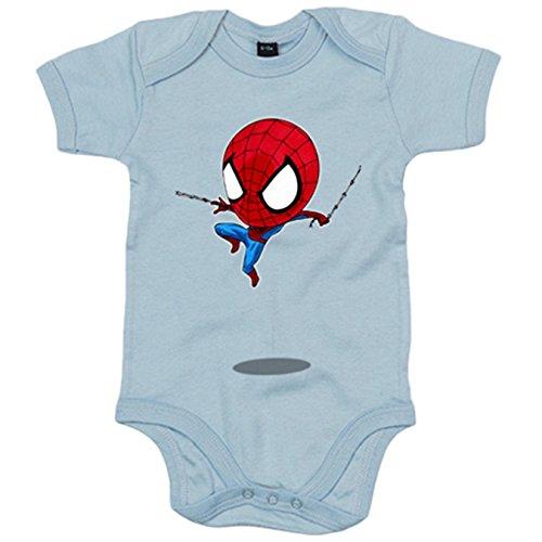 Body bebé Chibi Kawaii Spiderman parodia - Rojo, 6-12 meses