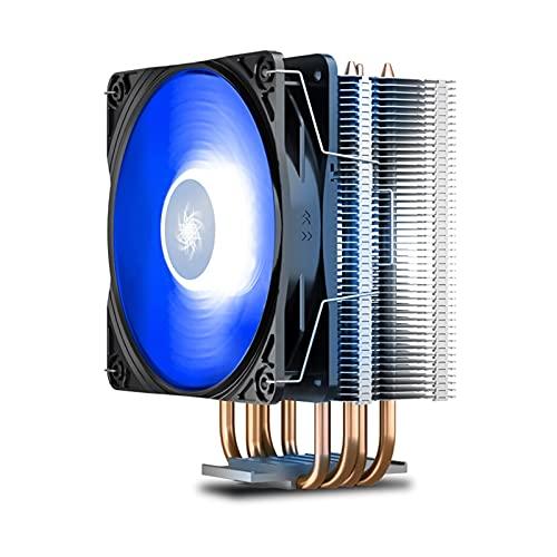 WDFDZSW 300 Ventilador de radiador de CPU refrigerado por Aire All Copper Four Cobre Tube 1150 Desktop Computer Host i5 i7 Matt Mute Mute AMD RGB Fuente de alimentación 500W (Color : B)