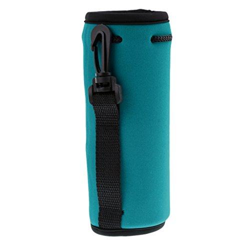 Porta-garrafa de água Baoblaze, 500 ml, bolsa de neoprene isolada, capa protetora para mamadeira, ótima para garrafas de aço inoxidável e plástico, Lake Blue