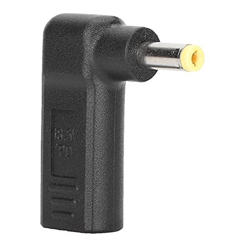 Goshyda Adaptador Tipo C a CC, Conector Hembra a Macho de 4,8 x 1,7 mm Dispositivo de Carga con Conector PD en ángulo Recto, Cable USB a CC