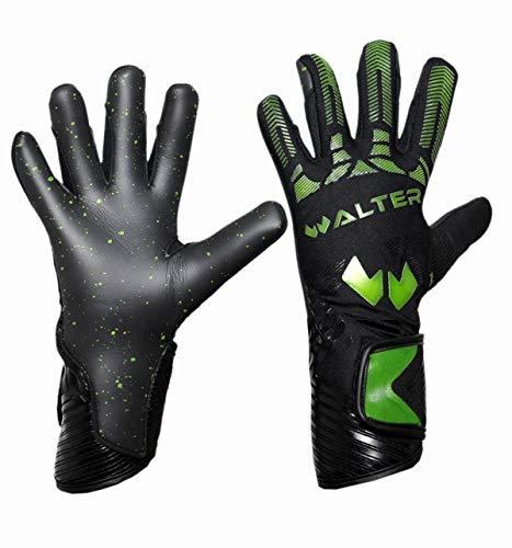 WALTER Guanti da Portiere Modello Partner (7, Black-Green Neon)