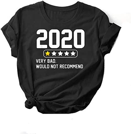 Graphic T Shirts for Women Funny Short Sleeve Tees for Teen Girls 2020 One Star Would Not Recommend product image