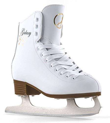 Sfr Skates SFR012, Pattini da Ghiaccio Unisex – Adulto, Bianco, 37