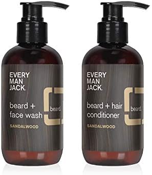 Every Man Jack Sandalwood Beard Face Wash Beard Conditioner Set 6 7 Ounce product image