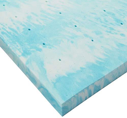 Linenspa 3 Inch Gel Swirl Memory Foam Topper - King,