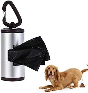 Agoodname Dog Poop Bag Holder -Pet Poop Holder Dog Waste Dispenser Tube Includes 15pcs Waste Bags with Portable Holder