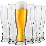 Krosno Vasos Copas de Weizen Trigo Cerveza | Conjunto 6 Piezas | 500 ML | Splendour Collection Uso en Casa, Restaurante y en Fiestas | Apto para Microondas y Lavavajillas