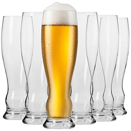 Krosno Vasos Copas de Weizen Trigo Cerveza | Conjunto 6 Piezas |...