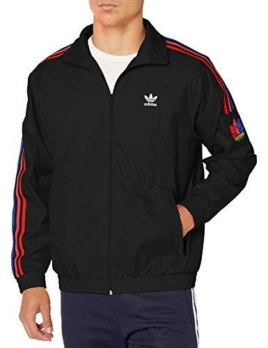 adidas Originals 3d Trefoil 3 rayas Track Jacket para hombre - negro - X-Large