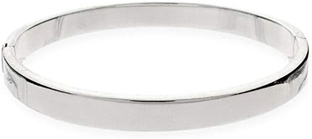 Personalized Sterling Silver Bracelet Engravable Bangle Bracelet
