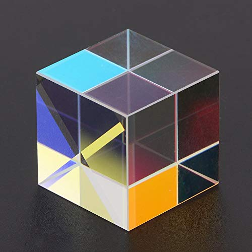 K9 Glass Cube Optical Glass Prism Six-Sided for Indoor Outdoor for Decoration for Photography(1.51.51.5cm)