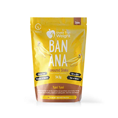 Shake That Weight 10x Diet Shakes - Banana - Meal Replacement Plan for Weight Loss - Very Low Calorie Diet - VLCD - High Protein, Rich Fibre, Gluten Free
