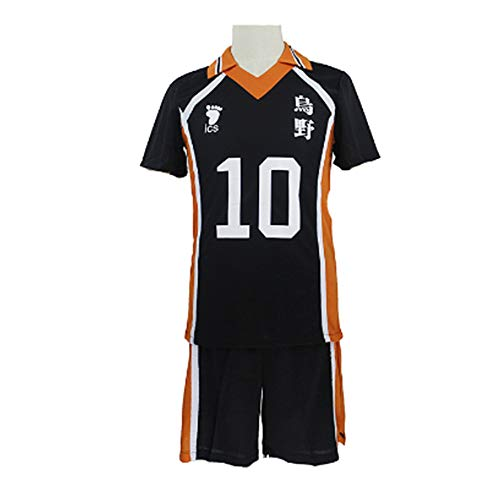 FINDPITAYA Disfraz Haikyuu Karasuno High School No 10 Hinata Shoyo/No 9 Kageyama Tobio Adulto Cosplay Costume